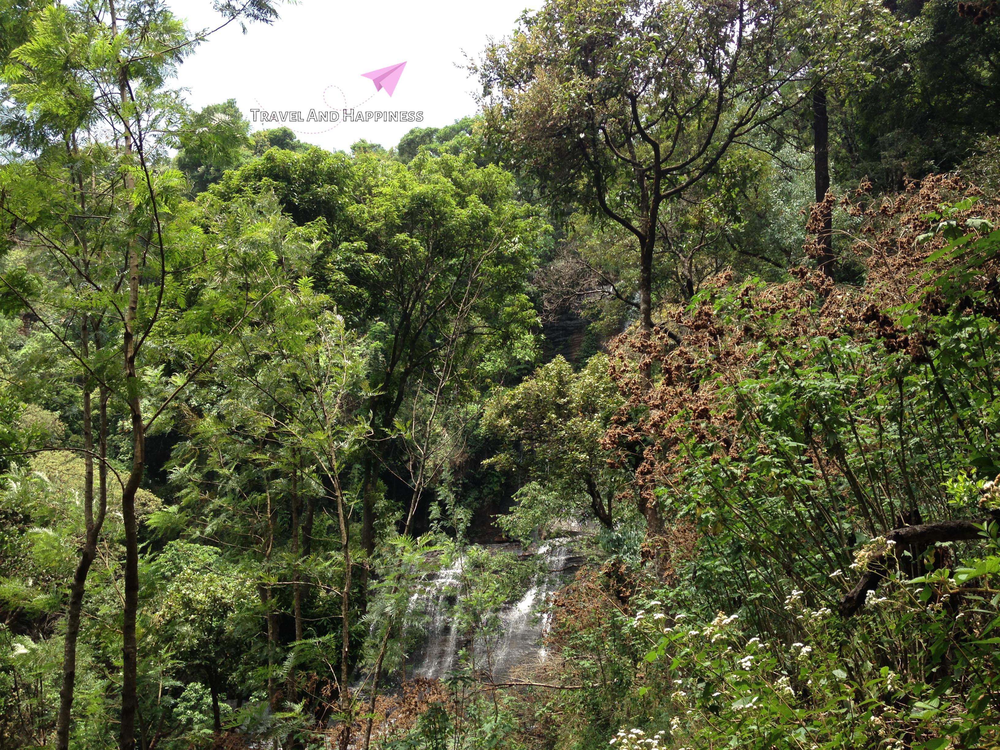 12. First view of Jhari - jeri falls in Chikamagalur