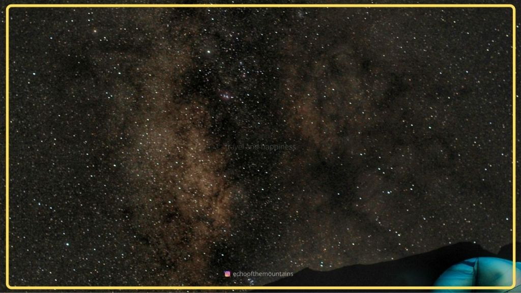 Milky way in the sky in kashmir